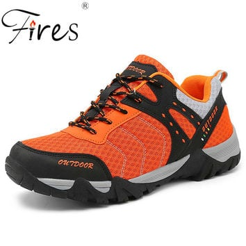 High quality Foreign trade the original single Women/men high help waterproof outdoor hiking boots shoes unisex trekking shoes