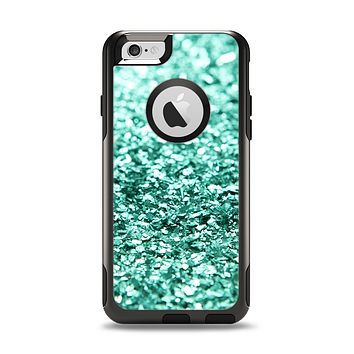 The Aqua Green Glimmer Apple iPhone 6 Otterbox Commuter Case Skin Set