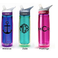Insulated CamelBak 20 ounce 20-oz Eddy Personalized Monogram Water Bottle Sports bottles Name water bottle Gift