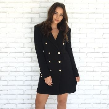Five Star Button Up Dress Coat