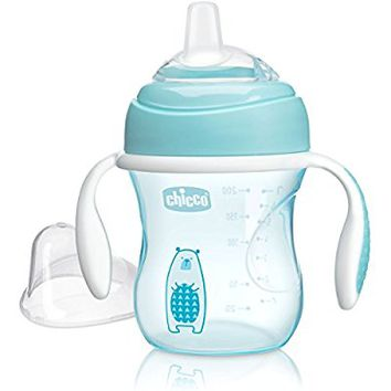 Chicco Natural Fit Soft Silicone Spout Transition Cup, Blue