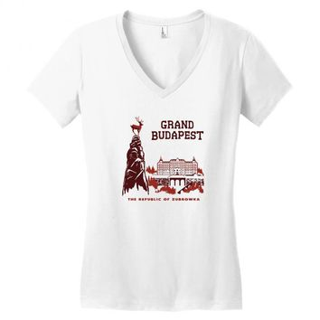 grand budapest hotel Women's V-Neck T-Shirt