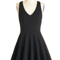 ModCloth LBD Mid-length Sleeveless Fit & Flare Here and Bow Dress