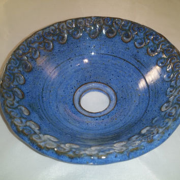 Vessel Sink Hand Made Pottery Basin. By claycafe. This will look great in your bathroom or powder room.