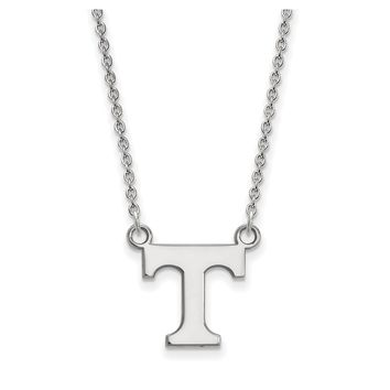 NCAA Sterling Silver U of Tennessee Small 'T' Pendant Necklace