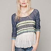 Stripe Sweater 2fer