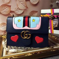 GUCCI WOMEN'S NEW FASHION LEATHER CHAIN SHOULDER BAG