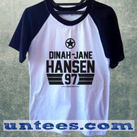 Dinah Jane Hansen Fifth Harmony Basic Baseball Tee Black Short Sleeve Cotton Raglan T-shirt