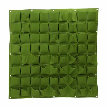 36 72 -Pocket Felt Wall Vertical Flower Vege Herbs Hanging Felt Planter Bags for Garden Indoor Outdoor Black Green Accessories