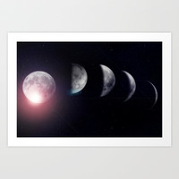 Moon (Variant) Art Print by DuckyB (Brandi)