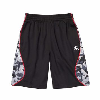 Boys' Polyester Fly Dunk Camo Basketball Shorts