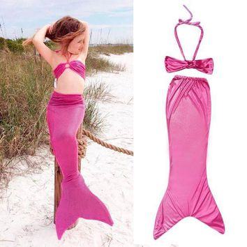Breathable Princess Ariel Little Mermaid Tail Dress Children Kids Girls Kid Mermaid Tails Costume Bikini Swimsuit Set Well Sell