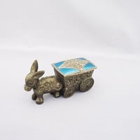 Pewter Trinket Box, Donkey Trinket Box, Pewter Donkey Jewellery Box, Donkey Jewellery Storage