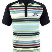 Retro Stripes ProCool Men's Golf Shirt (Green/Black)