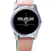 Veni, Vidi , Veci | Motivational Thoughts Wrist Watch
