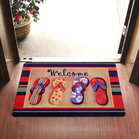 2016 New Welcome Slippers Are Patterned Printing Kitchen Carpets And Rugs Anti-Slip Entrance Door Mats 40*60 CM