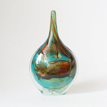 Vintage Art Glass Vase - Mdina 1970s