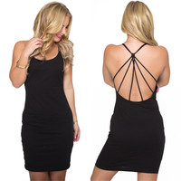 Back Lash Bodycon Dress