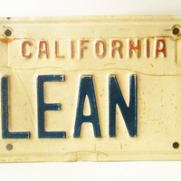 1960 California License Plate,  Clean 3, Front License Plate, Vintage Car Tag, Clean 3 Car Tag, Collectible Car Tag