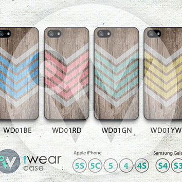 Aztec iPhone 5 Case, Geometric Arrow Teal iPhone 5 5s 5c Hard Case & Rubber Case, Wood Pattern cover skin case for iphone 5/5s/5c case