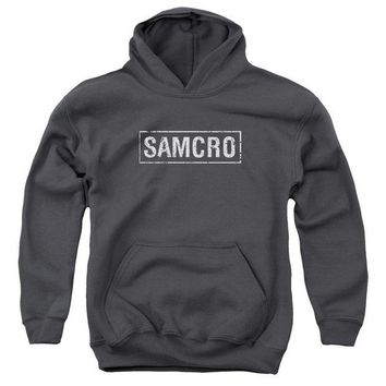 ac spbest Sons Of Anarchy - Samcro Youth Pull Over Hoodie
