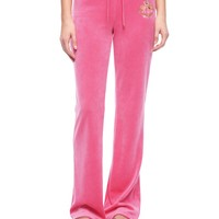 Logo Velour Jc Cameo Bootcut Pant by Juicy Couture,