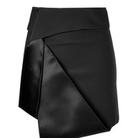 Dion Lee - Sail Tux Mini-Skirt in Black