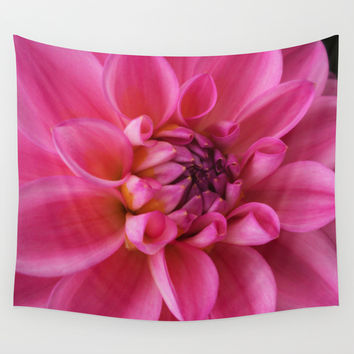 Beauty Unfurled Wall Tapestry by Rebekah Joan