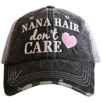 Nana Hair Don't Care - HAT - Ruffles with Love - RWL