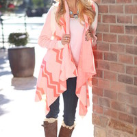 Lightning Bolt Cardigan Neon Pink