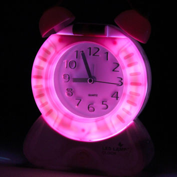 2016 Hot 2 in 1 Multifunctional Home Bedside Table Desk Night Light Lamp  pointer Clock