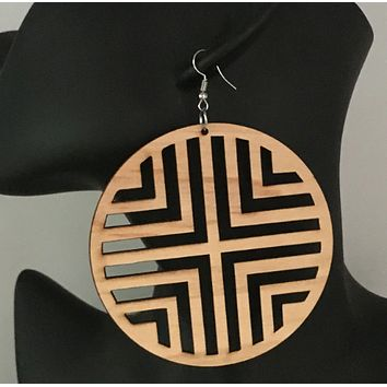 Geometric earrings | Tribal Ear Rings | Natural Hair accessories | Afrocentric Jewelry
