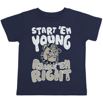 Georgetown Hoyas Infant Start 'Em Young T-Shirt - Navy Blue - http://www.shareasale.com/m-pr.cfm?merchantID=7124&userID=1042934&productID=548702087 / Georgetown Hoyas