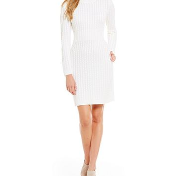 Calvin Klein Cable Knit Sweater Dress | Dillards