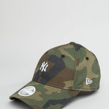 New Era 9 Forth Camo Cap with NY Embroidery at asos.com