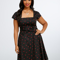 Retro Chic Ladybug Swing Dress