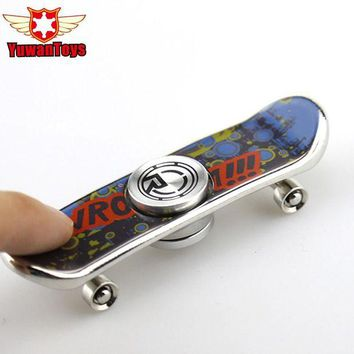 DCCKU7Q Finger Skateboard Mini Spinner Aluminum Alloy Hand Spinner Anti Stress Funny Toys Creative Fidget Toys Cool Gift ADHD Autism toy