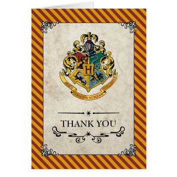 Harry Potter | Hogwarts Birthday Thank You Card