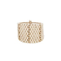 White Woven Bracelet by Catherine Stein Designs