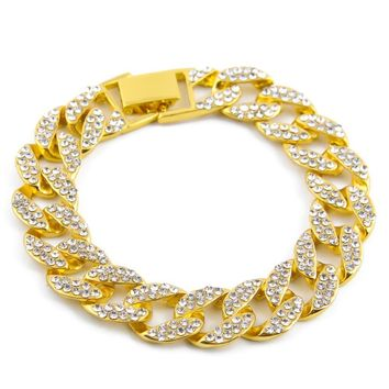 QIYIF iced out cuban links bracelet