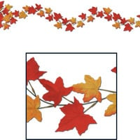 fall/thanksgiving autumn leaf garlands - 6' Case of 12