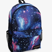 Nebula Print Blue Galaxy Backpack