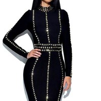 Untamed Bandage Embellished Dress
