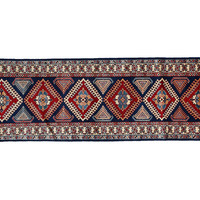 "2'7""x8'10"" Bell Runner, Blue, Area Rugs"