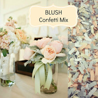 BLUSH Wedding Confetti - Chic Wedding Decoration, Scatters, Confetti, Bulk Confetti, Blush Wedding, Dusty Pink, Vintage Wedding, Romantic