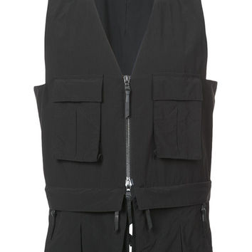 11 By Boris Bidjan Saberi Cargo Pocket Zipped Vest - Farfetch