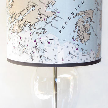 Penobscot Bay, Maine Nautical Chart Lamp Shade