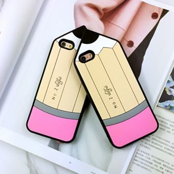 Unique Cute Pencil Pattern Iphone Protective Case + Nice Gift Box