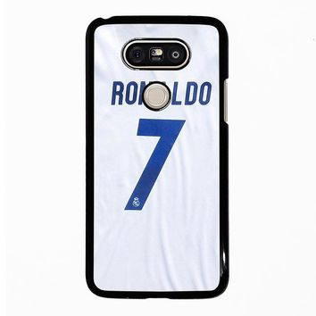 RONALDO CR7 JERSEY REAL MADRID LG G5 Case Cover