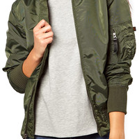 ROMWE Zippered Elastic Green Coat